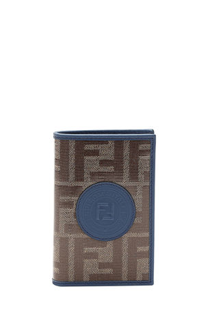 Fendi Men's Vetrificato FF-Canvas Vertical Bifold Wallet