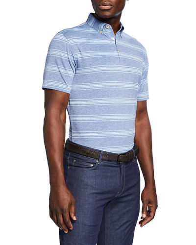 0be342f78 Quick Look. Peter Millar · Men's Striped Jersey Polo Shirt