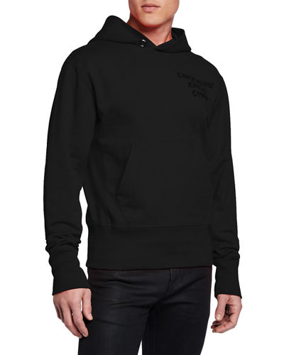 Men's Logo Hack Cotton Pullover Hoodie
