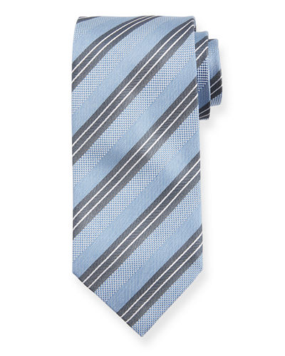 Triple Stripe Silk Tie