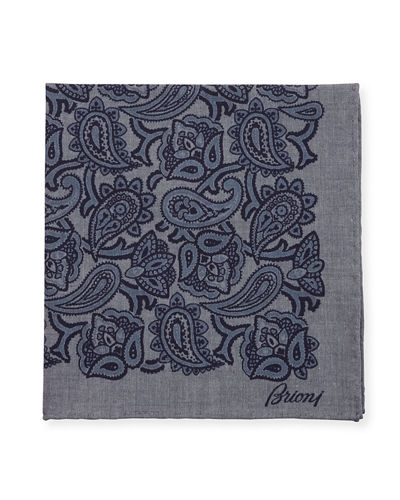 Chambray Paisley Pocket Square