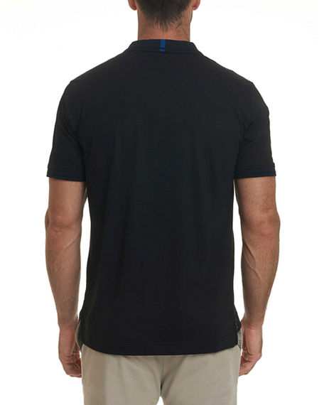 Image 2 of 2: Robert Graham Men's Short Sleeve Westan Polo Shirt