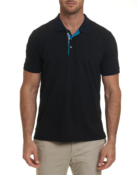 Image 1 of 2: Robert Graham Men's Short Sleeve Westan Polo Shirt