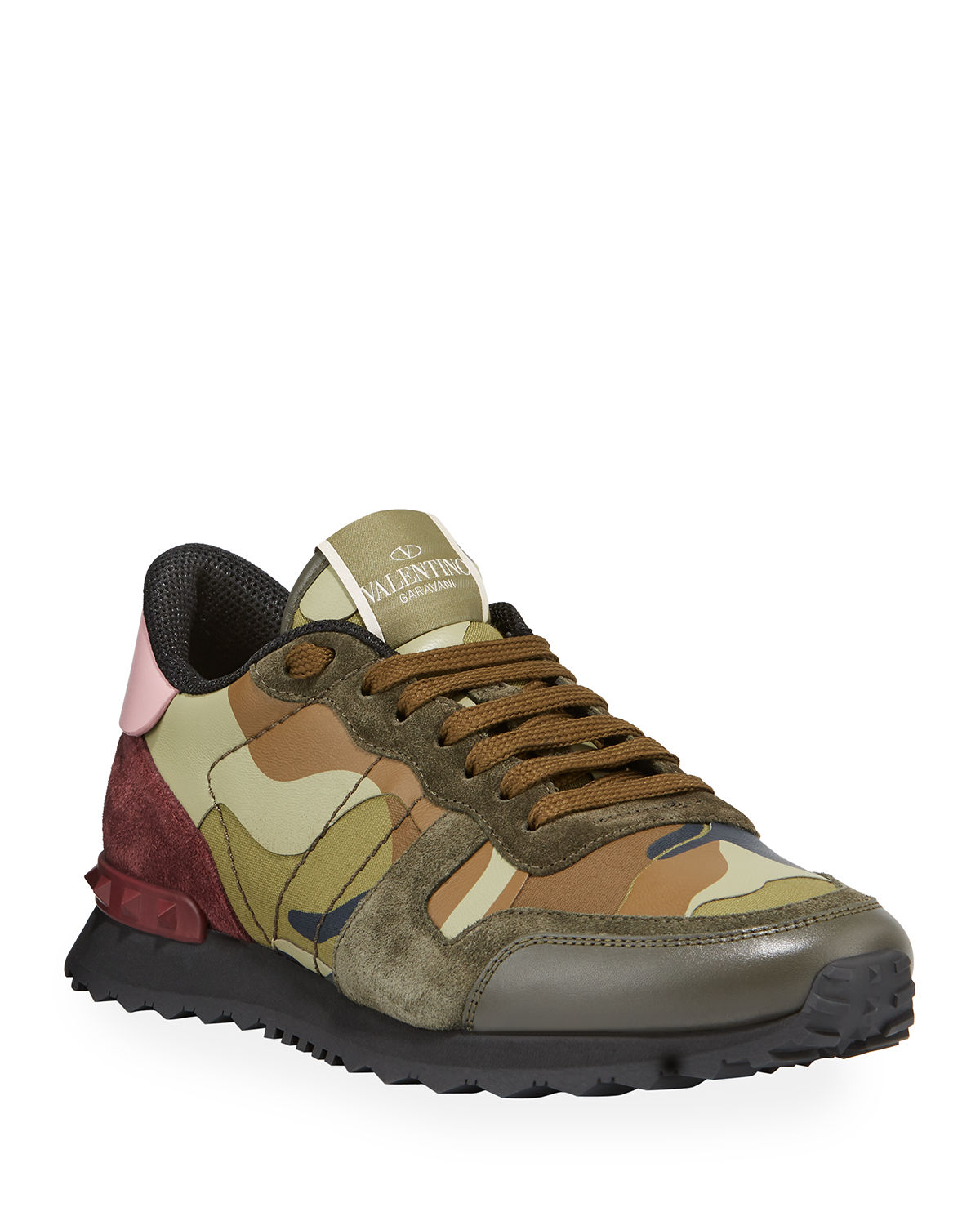 3faaa92a4172 Valentino Garavani Men s Rockrunner Camo Leather Sneakers