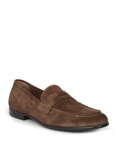 Men's Silas Suede Penny Loafers
