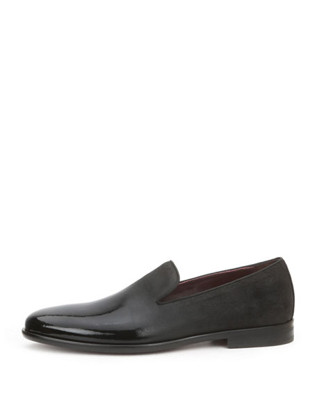 Image 3 of 4: Bruno Magli Men's Picasso Damask-Velvet Loafers
