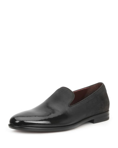 Men's Picasso Damask-Velvet Loafers