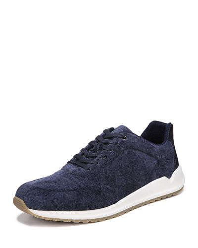 Men's Garrett Crushed Velour Trainer Sneakers