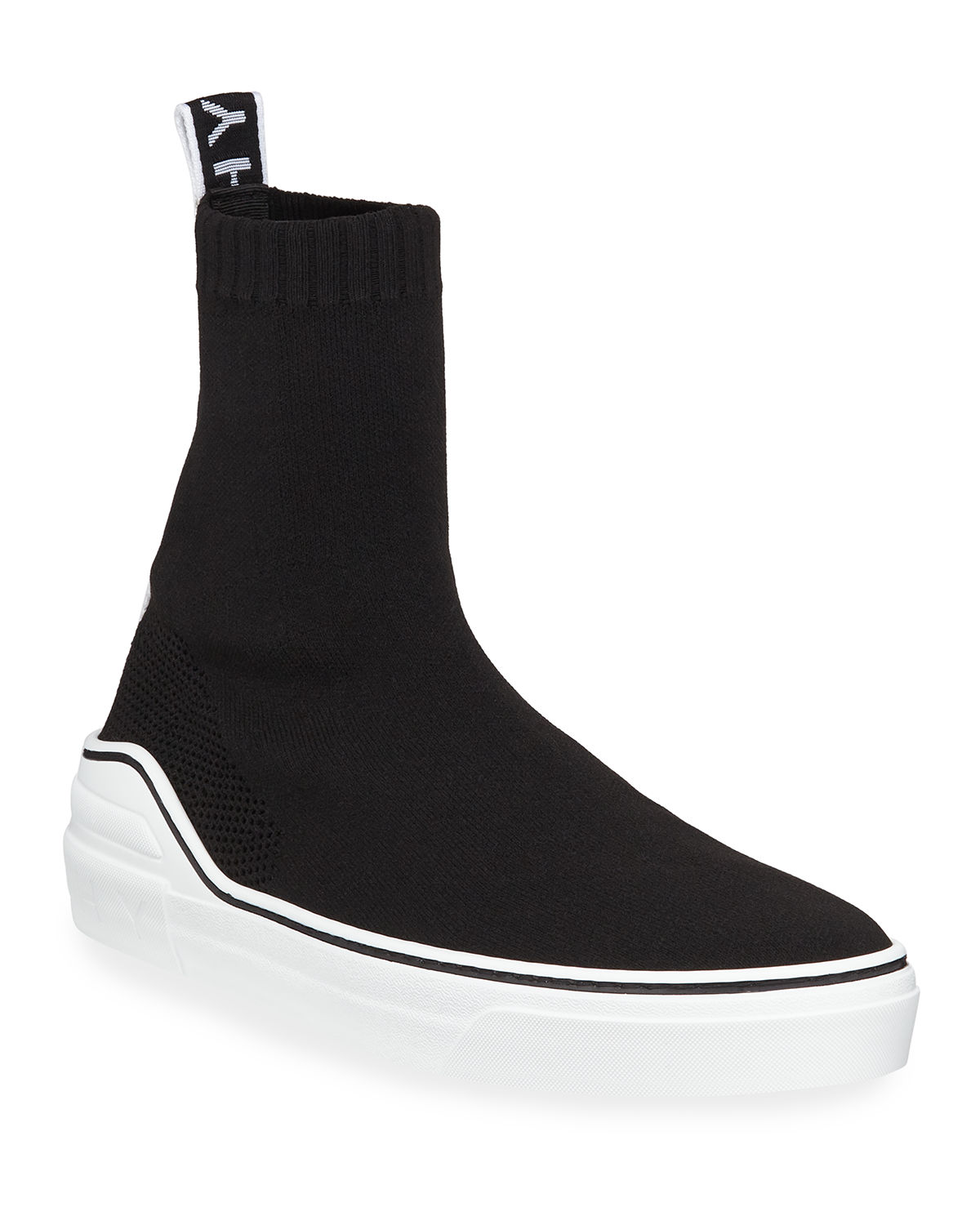 2db5b9a2634 Givenchy Men s George V High-Top Sock Sneakers with Logo