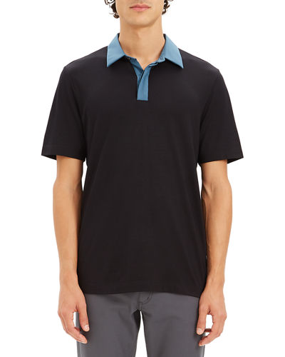 Men's Incisive Contrast-Trim Polo Shirt