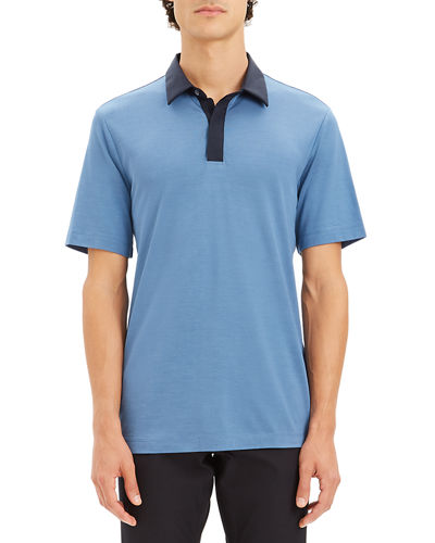 Theory Men's Incisive Contrast-Trim Polo Shirt