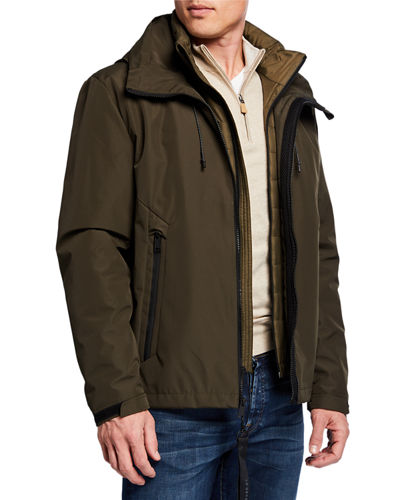 Cole Haan Men's 2-in-1 Zip-Front Jacket