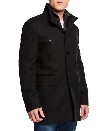 Cole Haan Men's Melton 3-in-1 Topper Jacket