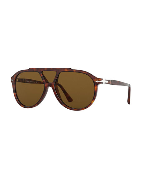 Persol Men's PO3217S Acetate Shield Sunglasses