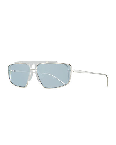 Men's Square Wrap Sunglasses