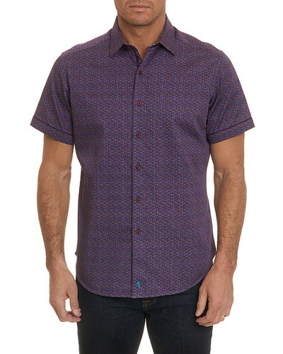 Men's Westward Mini-Print Short-Sleeve Sport Shirt