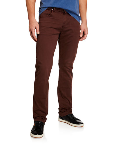 Men's Clean-Pocket Straight-Leg Jeans