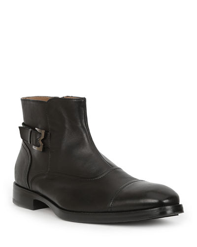 Men's Arcadia Leather Buckle Ankle Boots