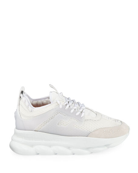 Image 3 of 4: Versace Men's Chain Reaction Caged Sneakers