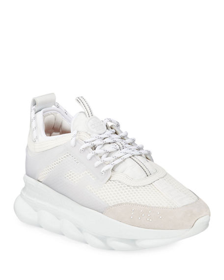 Image 1 of 4: Versace Men's Chain Reaction Caged Sneakers