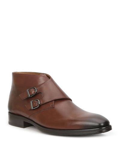 Men's Alberto Double-Monk Ankle Boots