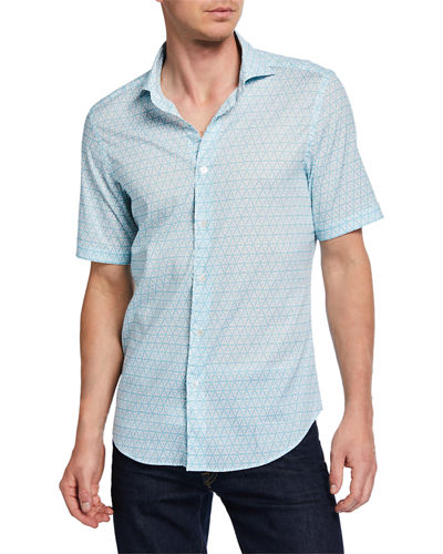 Men's Sean Short-Sleeve Printed Jersey Shirt