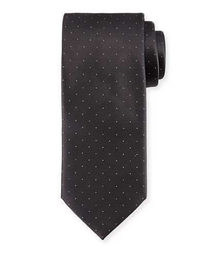 Satin Dot Silk Tie