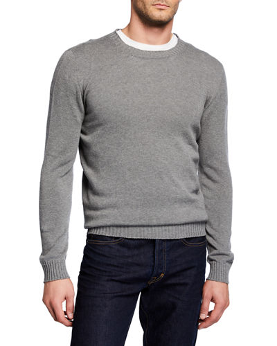 Men's Round Neck Knitted Sweater