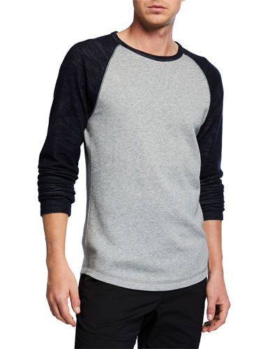 Men's Colorblock Double Knit Long-Sleeve Shirt