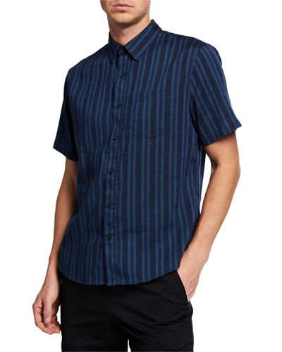 Men's Multi Stripe Short-Sleeve Shirt