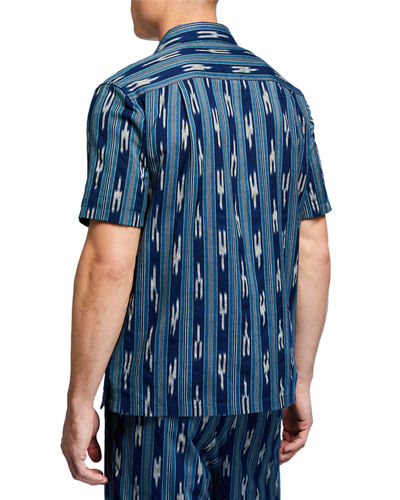 Vince Men's Ikat-Pattern Cabana Shirt