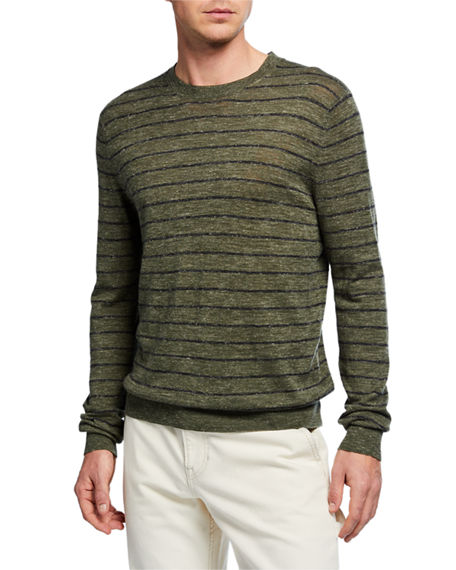 Vince Men's Long-Sleeve Stripe Sweater