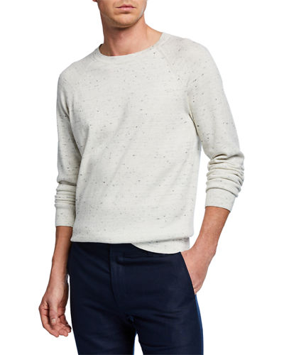 Men's Long-Sleeve Cotton/Wool Crewneck Sweater