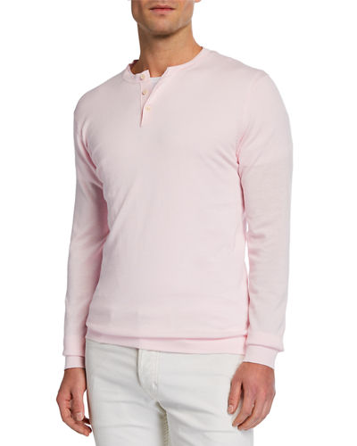 Men's Cotton Henley Shirt