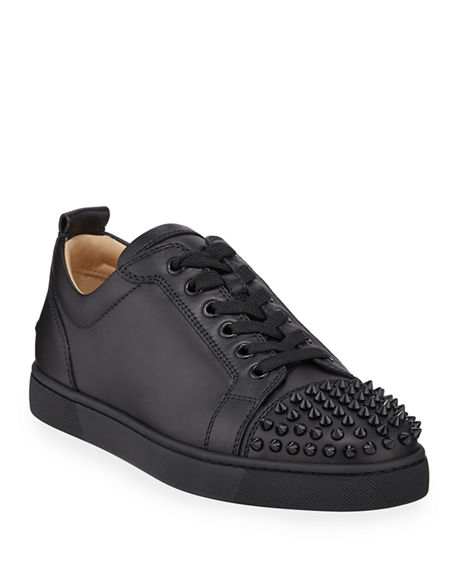Image 1 of 5: Christian Louboutin Men's Louis Junior Spiked Low-Top Sneakers