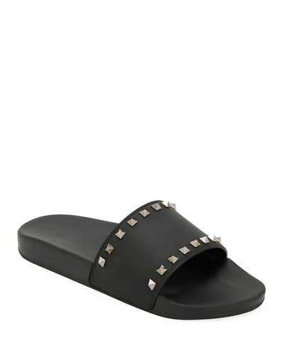 Men's Rockstud Pool Slide Sandals