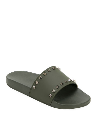 2c4187400cac7 Quick Look. Valentino Garavani · Men's Rockstud Pool Slide Sandals.  Available in Black