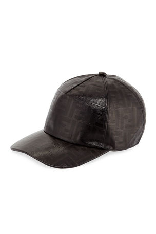 Fendi Men's Vetrificato Signature FF Baseball Cap