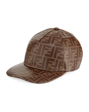 0616fe99df3 Fendi Men s Vetrificato Signature FF Baseball Cap