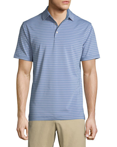 Men's Halifax Striped Jersey Polo Shirt
