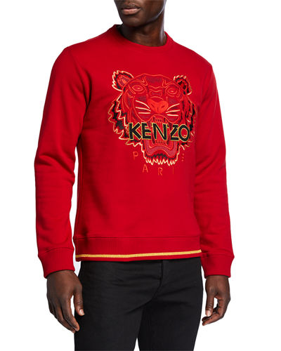 Men's Tiger-Embroidered Classic-Fit Sweatshirt