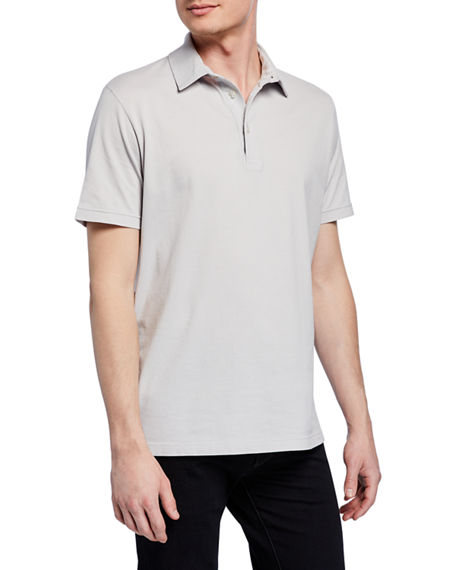 Loro Piana T-shirts MEN'S STONE-DYED JERSEY POLO SHIRT