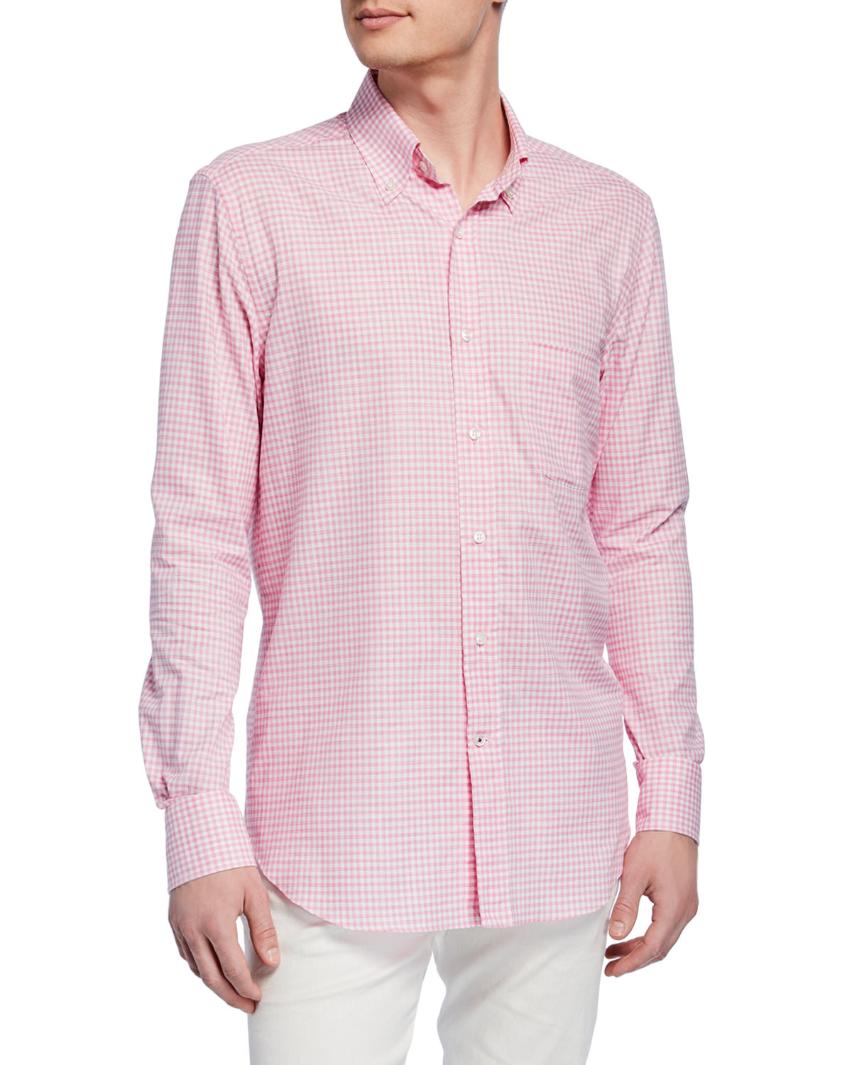 Loro Piana T-shirts MEN'S CHECK SPORT SHIRT