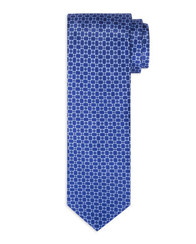 Neat Figure-Eight Silk Tie