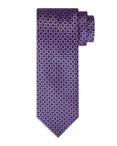 Stefano Ricci Neat Figure-Eight Silk Tie