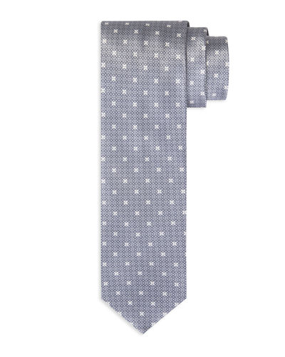 Cross-Print Silk Tie