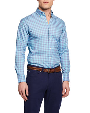 e4c3ffa4eb6db Peter Millar Men s Broadwater Gingham Sport Shirt