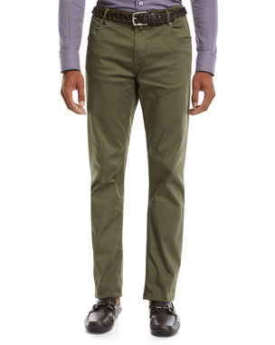 0684608f1c9 Neiman Marcus Men s Stretch-Cotton Five-Pocket Pants