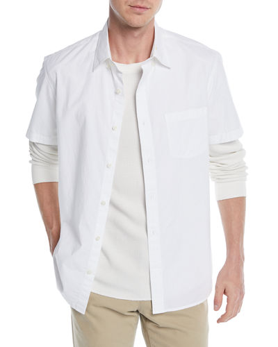 Men's Poplin Short-Sleeve Sport Shirt