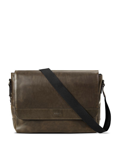 Men's Slim Navigator Leather Messenger Bag